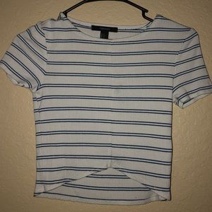 FOREVER 21 super cute and comfy striped crop top